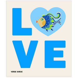 Swedish Dishcloth Sponge - LOVE Fish Design