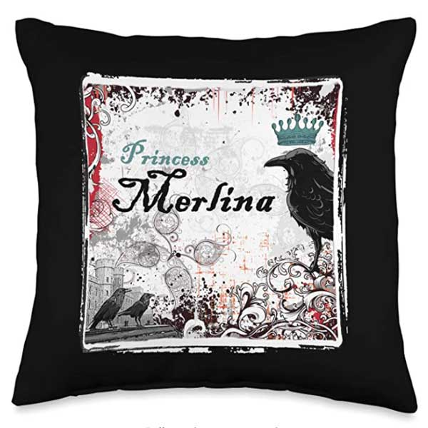 Merlina: The Princess Raven Throw Pillow, 16x16
