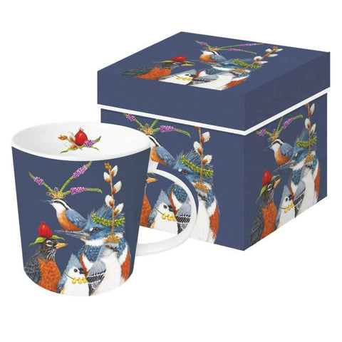 "Vicki Sawyer - ""Party Friends"" Birds Gift-Boxed Mug 13.5 oz"