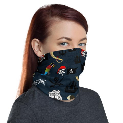 Pirates Flags and Ships Stylish and Functional Neck Gaiter - One Size
