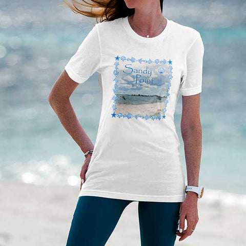 Sandy Point T-shirt for Summer Days Along the CT / RI Shoreline