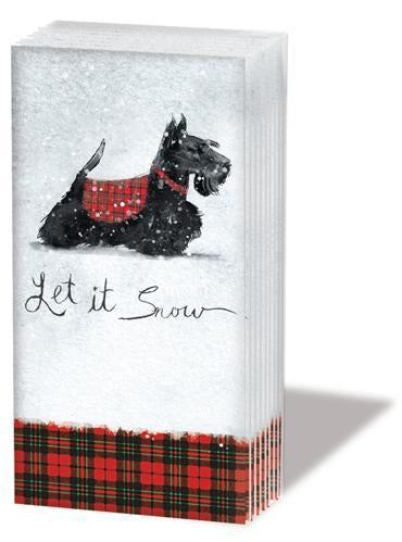 """SCOTTIE"" SNIFF Scottish Terrier Dog Pocket Tissues 1-pack"
