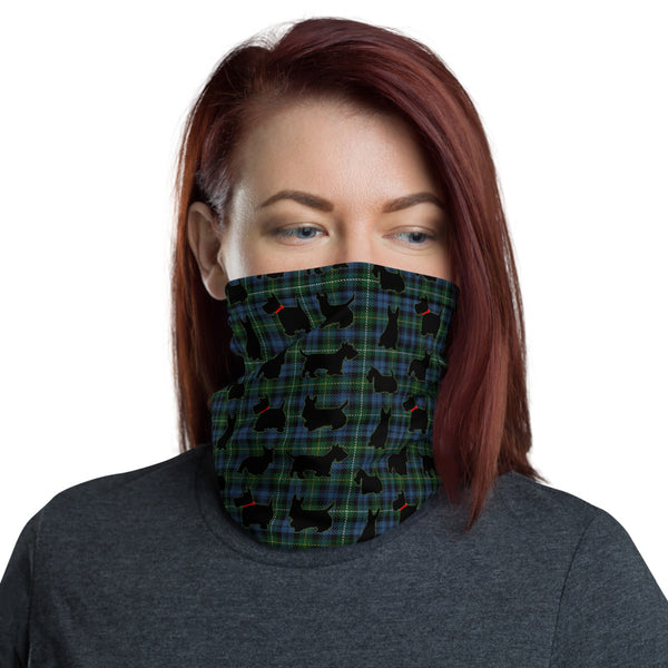 Scottish Terrier Face Covering Scottie Dog Neck Gaiter - One Size Unisex