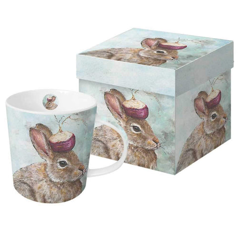 "Vicki Sawyer - ""The Turnip Guardian"" Rabbit Gift-Boxed Mug 13.5 oz"
