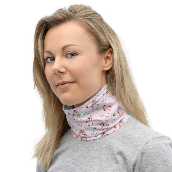 Unicorn 'Stay Magical' Face Covering Neck Gaiter - One Size Unisex