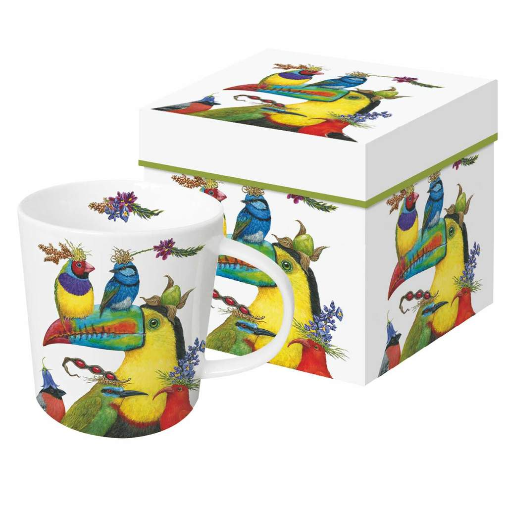 "Vicki Sawyer - ""World Travellers"" Birds Gift-Boxed Mug 13.5 oz"