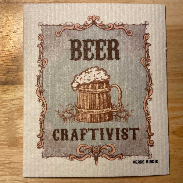 Swedish Dishcloth Sponge - BEER CRAFTIVIST Design