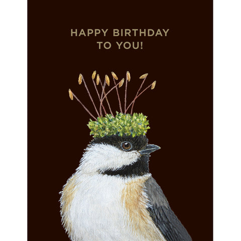 Birthday Chickadee- Greeting or Note Card by Vicki Sawyer