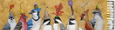 """Chickadee Sisters"" Bird Gift-Boxed 40 Long Matches - Vicki Sawyer"