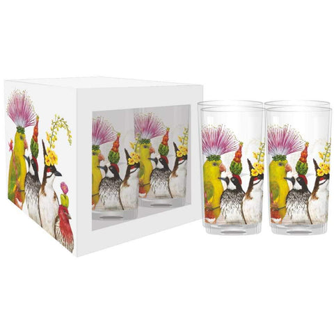 """The Entourage"" Drinking Glasses, Set of 4 - Vicki Sawyer"