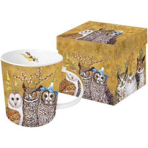 Vicki Sawyer - The Owl Family Gift-Boxed Mug 13.5 oz