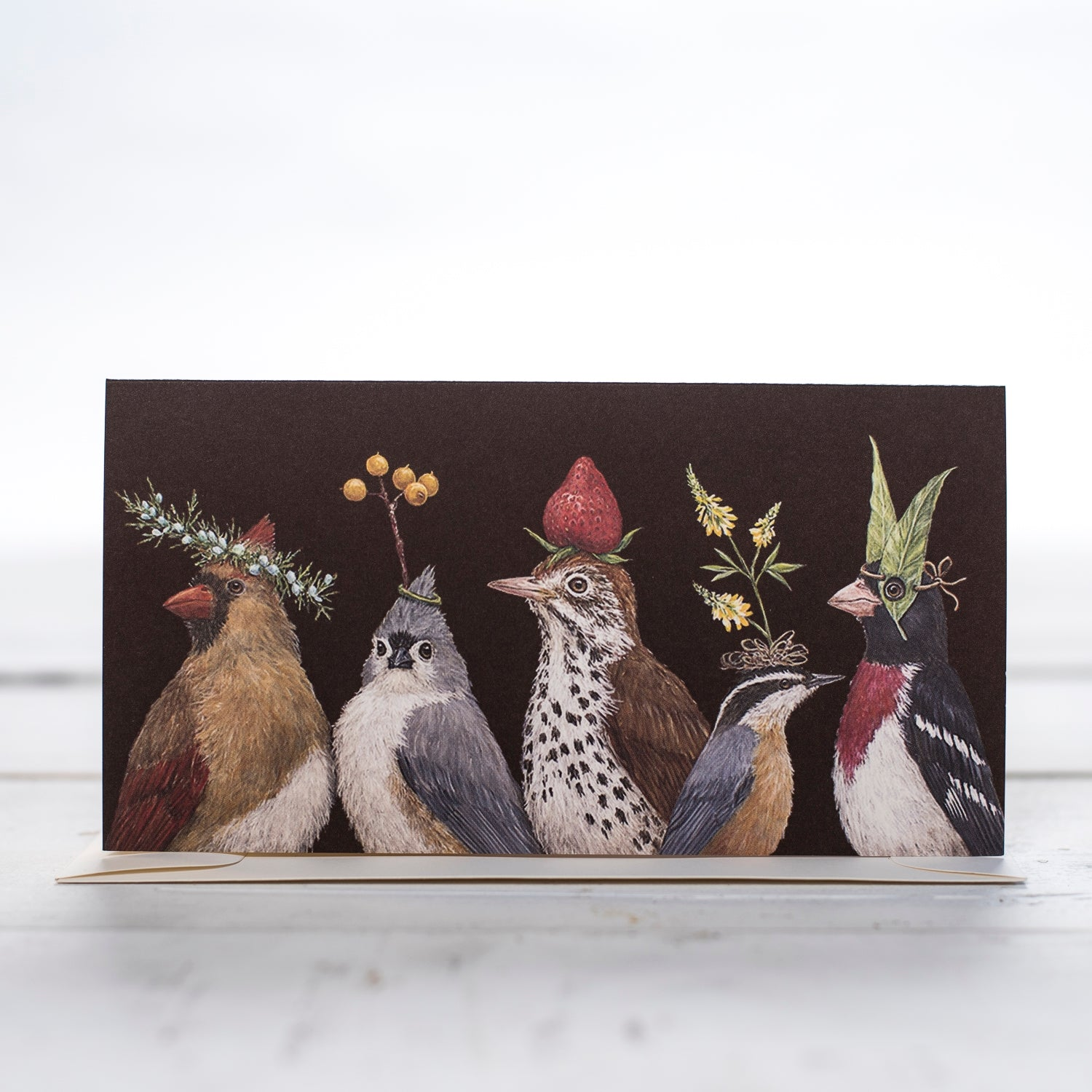 """Party at the Feeder"" - Greeting or Note Card by Vicki Sawyer"