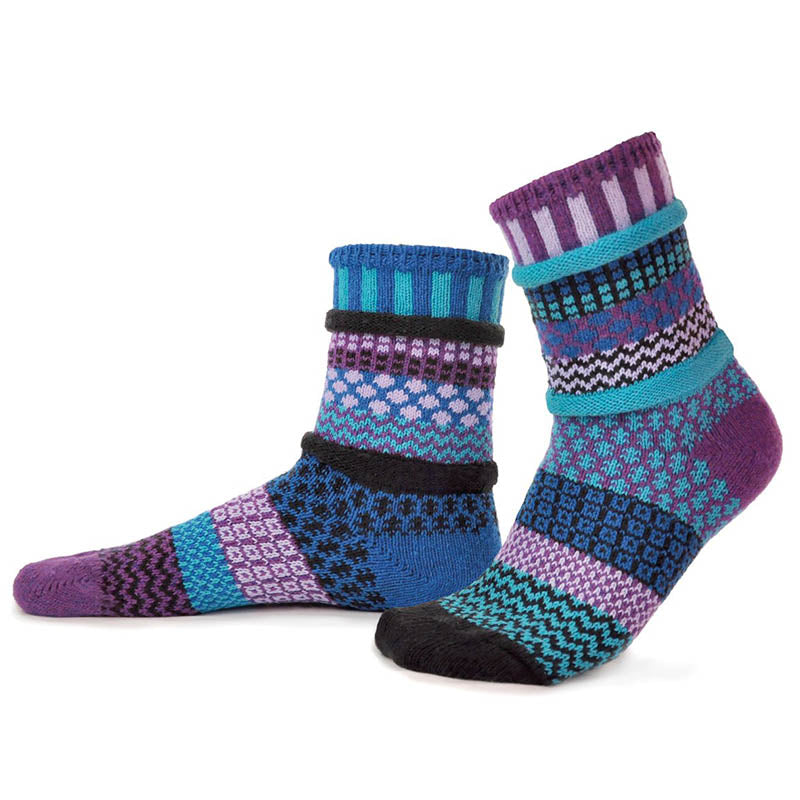 Raspberry - Unisex Crew Socks by Solmate Socks