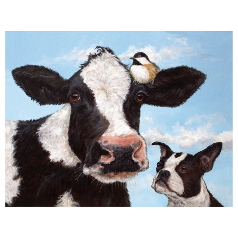"""Unlikely Friends"" - Greeting or Note Card by Vicki Sawyer"