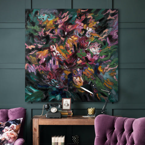 Bergenia Canvas Painting