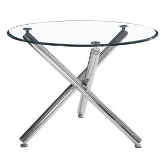 #SALE! Solara II Round Dining Table - Chrome
