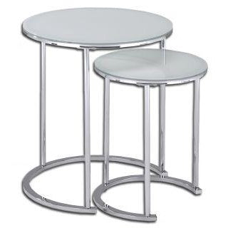 Oslo White 2 Piece Accent Table