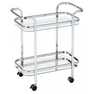 Zedd 2 Tier Bar Cart - Chrome
