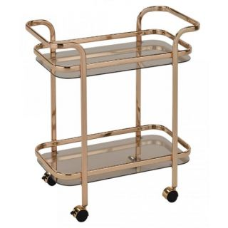 Zedd 2 Tier Bar Cart - Gold