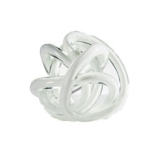 Orbit Glass Decor Ball Large - White