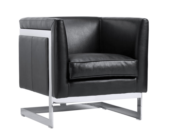 Soho Black Nobility Leather Armchair