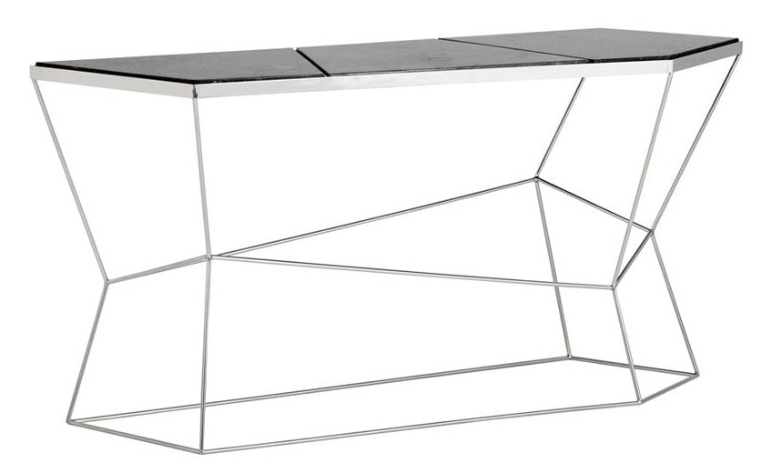 Nathaniel Console Table - Grey Marble