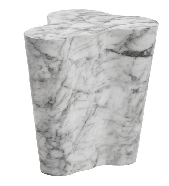 Ava Marble Look End Table - Small