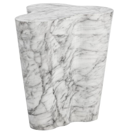 Ava Marble Look End Table - Large