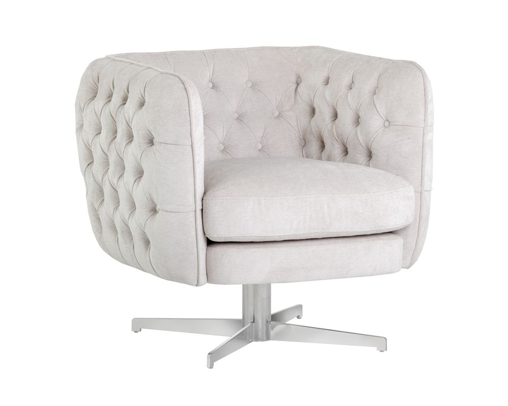 Darla Swivel Lounge Chair - Polo Club Muslin