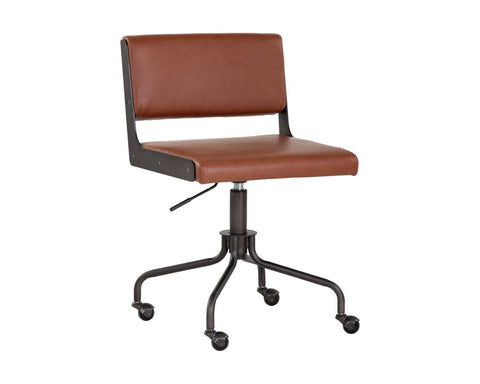 Davis Office Chair - Black - Rust Tan