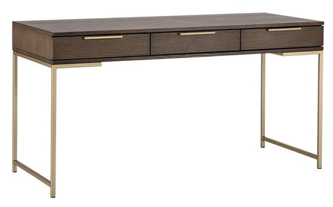 Rebel Desk - Gold - Raw Umber