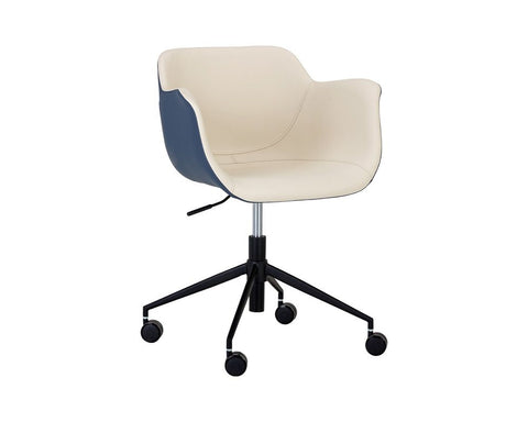 Owen Office Chair - Dillon Cream + Dillon Thunder