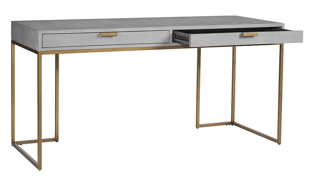 Jiro Desk - Shagreen Leather