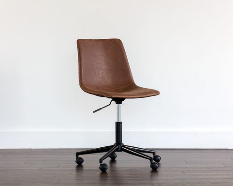 Cal Office Chair - Antique Brown