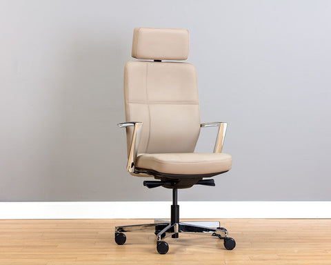 Dennison Office Chair - Cream Leather