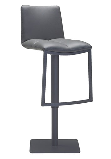 Dove Hydraulic Barstool - Grey Leatherette
