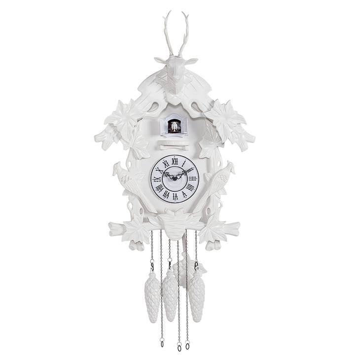 Village White Cuckoo Clock - Large