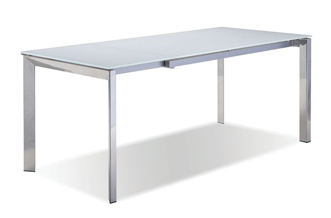 Ghost Pure White Extension Dining Table