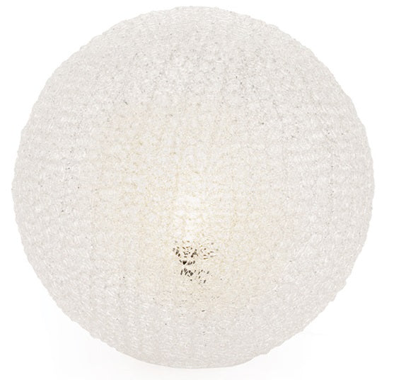 Sphere Clear Mesh Table Lamp - Large