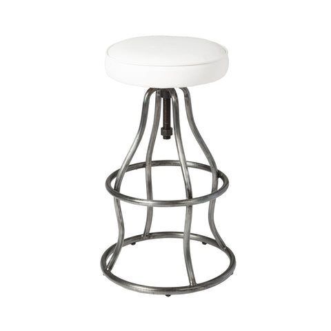 Bowie Bar Stool - White Leather