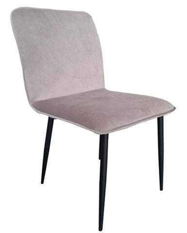 Lucio Velvet Lounge Chair - Light Grey