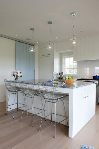 Bertoia Bar Stool - White