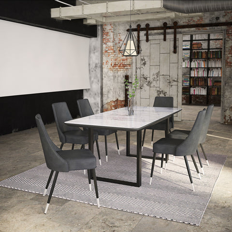 Gavin Dining Table with Extension in Black
