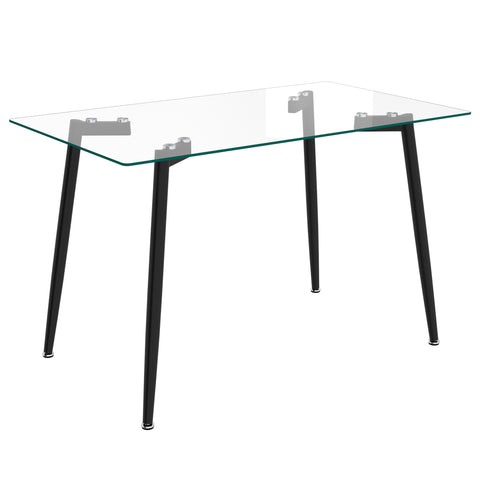 Todd Rectangular Dining Table - Black