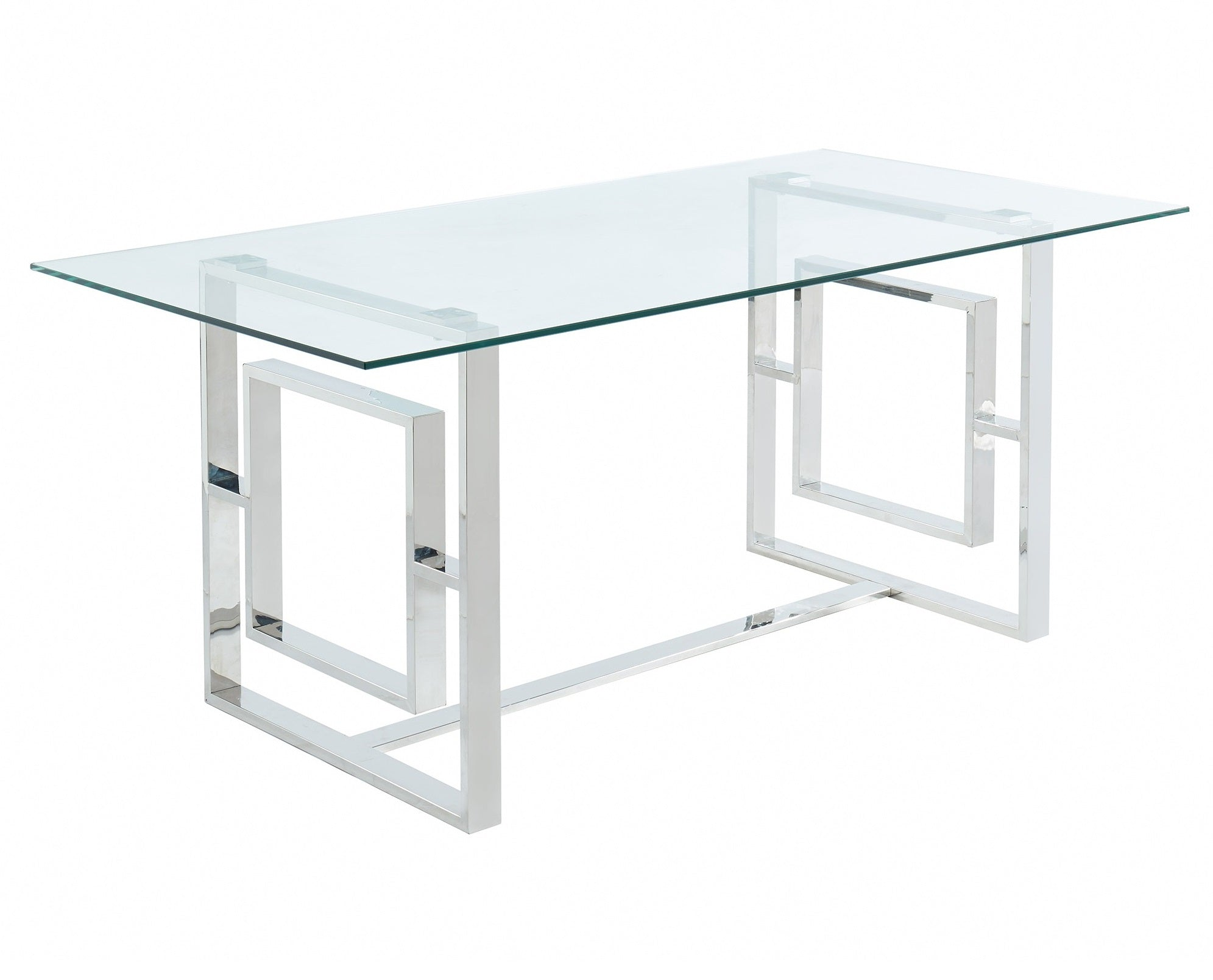 Eros Rectangular Dining Table - Silver