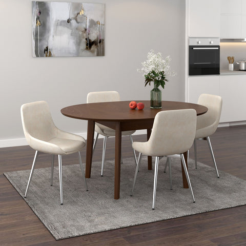 Alero Dining Table with Extension in Walnut