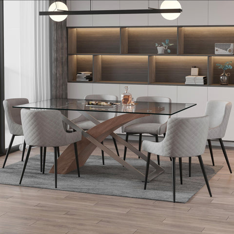 Veneta Rectangular Dining Table - Walnut