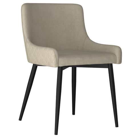 Bianca Side Chair - Beige with Black Leg