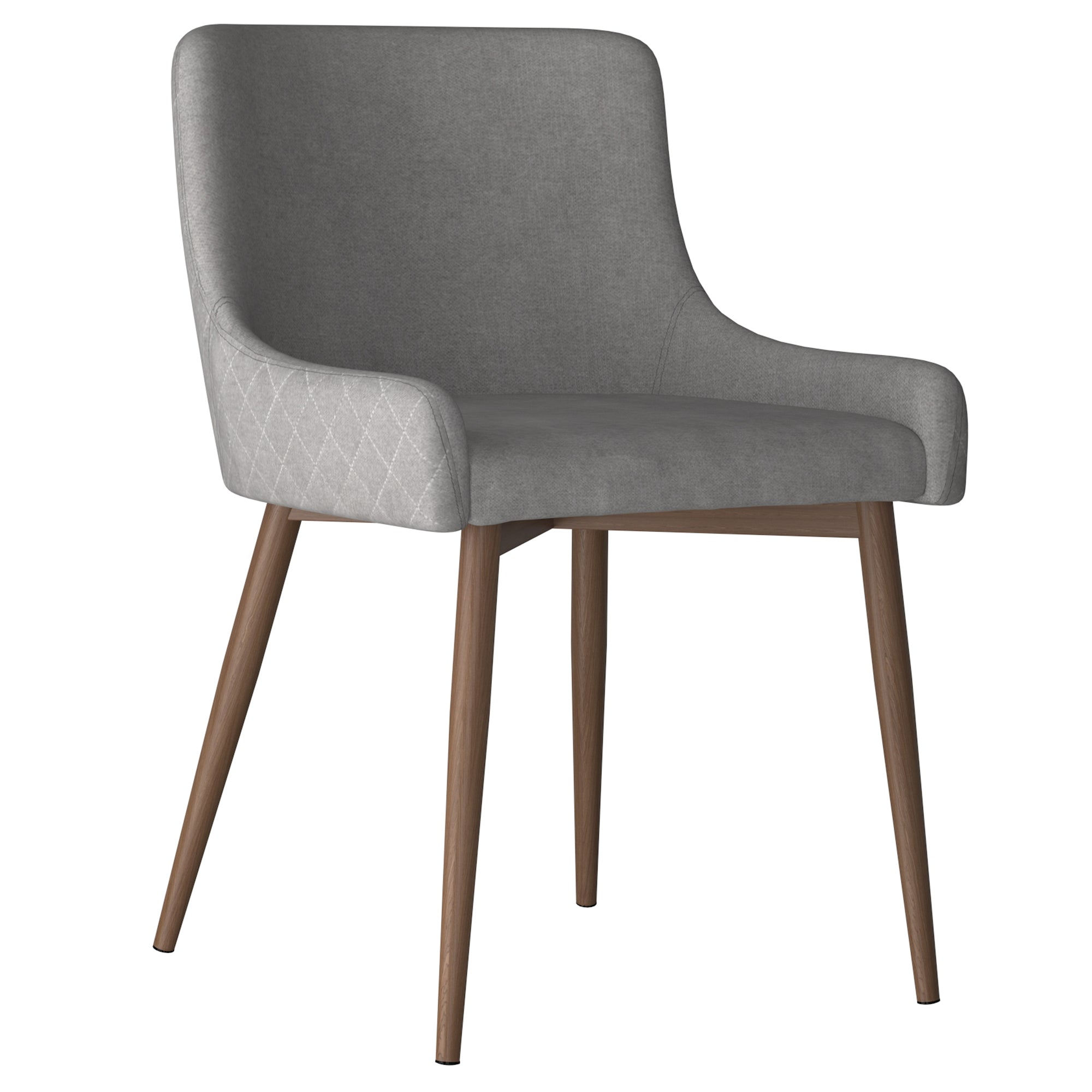 Bianca Side Chair - Grey with Walnut Legs