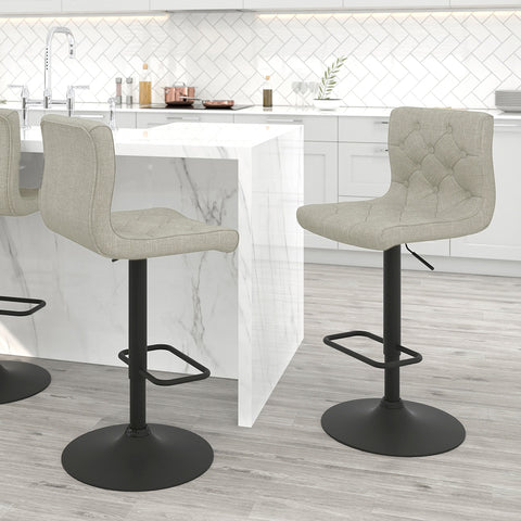 Dex Air Lift Stool - Beige Fabric